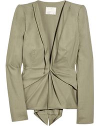 Willow | Gathered Stretch-cotton Jacket | Lyst