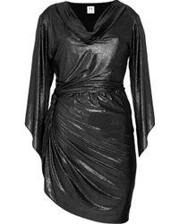 Halston Heritage Twist Lamé Dress - Lyst
