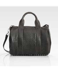 Alexander Wang Rocco Leather Satchel - Lyst