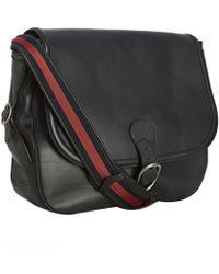 Gucci Ink Leather Flap Front Shoulder Bag - Lyst