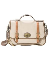 Fossil - Vintage Re Issue Canvas Messenger Bag - Lyst