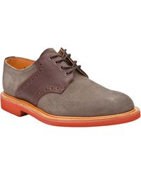 G.H.BASS - Suede Saddle Shoes - Lyst