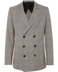 Alexander McQueen Prince Of Wales Check Jacket - Lyst