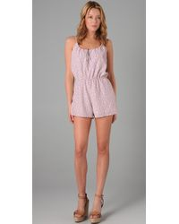 Torn By Ronny Kobo - Floral Romper - Lyst