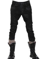 Balmain Dirty Suede Biker Skinny Fit Jeans black - Lyst