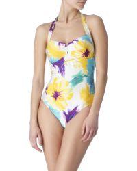 Seafolly Azzura Halterneck Swimsuit - Lyst