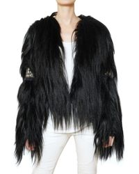 Balmain Mongolian Embroidered Fur Coat - Lyst