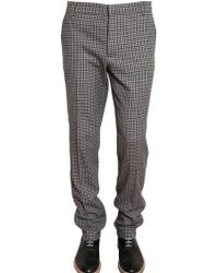 Band of Outsiders Checked Wool Flannel Trousers - Lyst