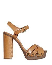 Chloé 120mm Calfskin Ankle Strap Sandals - Lyst