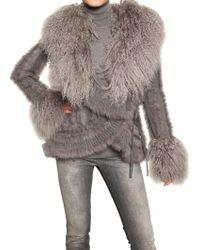 Dolce & Gabbana Mongolia Fur On Rabbit & Wool Sweater - Lyst