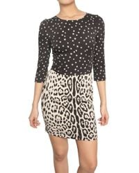 Dolce & Gabbana Double Printed Charmeuse Dress - Lyst