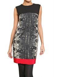 Giambattista Valli Python Print Wool and Silk Crepe Dress - Lyst
