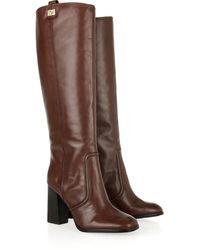 Diane von Furstenberg Yokoe Leather Knee Boots brown - Lyst