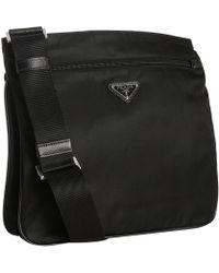 Prada Black Nylon Pocket Messenger Bag - Lyst