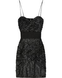 Foley + Corinna Metallic Lace Dress - Lyst