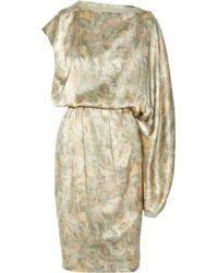 Ports 1961 Asymmetric Printed Silk Dress - Lyst