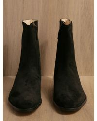 Mr. Hare - Men Spector Ostrich Leather Half Boots Black - Lyst