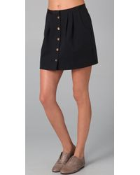 Juicy Couture - Front Button Skirt - Lyst