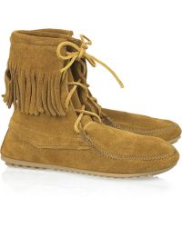 Minnetonka - Tramper Ankle Hi Moccasin Ankle Boots - Lyst