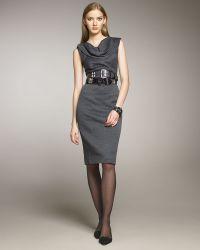 Oscar de la Renta Tulip-collar Dress - Lyst