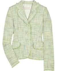 Luisa Beccaria - Fringed Tweed Jacket - Lyst