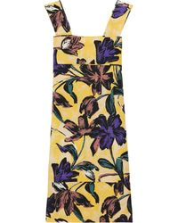 Marni Printed Cotton and Linen-blend Dress - Lyst