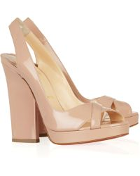 Christian Louboutin New Marpoil 120 Patent-leather Sandals - Lyst