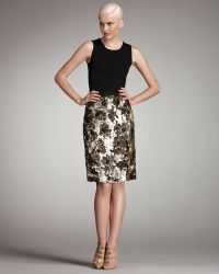 Oscar de la Renta Sequined Skirt - Lyst