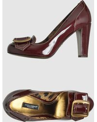 Dolce & Gabbana Moccasins with Heel - Lyst
