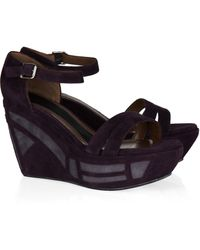 Marni Patterned-platform Suede Sandals - Lyst