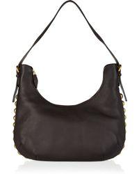 Sonia Rykiel Studded Textuerd-leather Shoulder Bag - Lyst