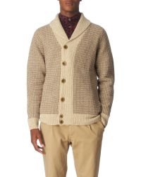 Paul Smith Shawl–neck Knitted Cardigan - Lyst