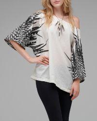 Uzi - Feathers Kimono - Lyst