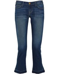 Current/Elliott The Kicker Mid-rise Cropped Jeans - Lyst
