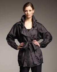 Rachel Roy - Cropped Silk Trenchcoat - Lyst