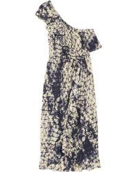 Gryphon - Printed Silk-georgette Dress - Lyst