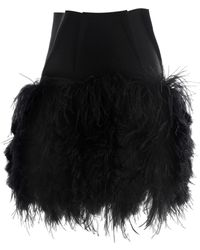 Lanvin Ostrich Feather, Fitted Skirt - Lyst