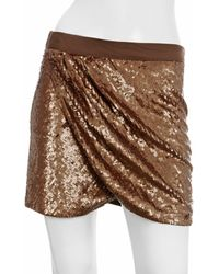 Haute Hippie Faux Wrap Mini Skirt - Lyst