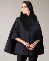 Rachel Roy - Fur-collar Cape - Lyst