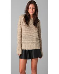Lover - Cable Knit Sweater - Lyst