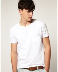 ASOS Collection Asos Crew Neck T-shirt with Pocket - Lyst
