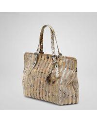 Bottega Veneta Stone Plaster Velvet Python Bag - Lyst