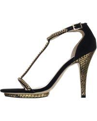 Reiss Chain Strappy Sandal - Lyst