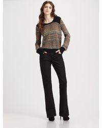 Theory Hadar Chunky Silk Sweater multicolor - Lyst