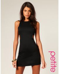 ASOS Collection Asos Petite Cut Out Shift Dress black - Lyst