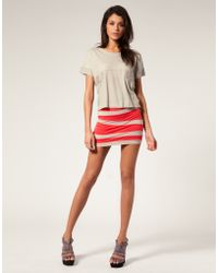 ASOS Collection Asos Contrast Panel Mini Skirt - Lyst