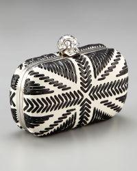 Alexander McQueen Skull-clasp Britannia Box Clutch - Lyst