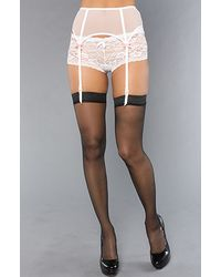 Betsey Johnson The Rebel Rose Reversible Garter in Pearl - Lyst