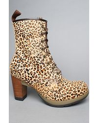 Jimmy choo alanis leopard print calf hair ankle boots in animal printed pony leo lyst - Dr martens diva ...