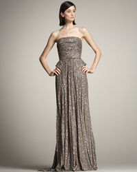 Eastland Beaded Strapless Gown - Lyst